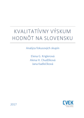 Kvalitativny vyskum hodnot na Slovensku